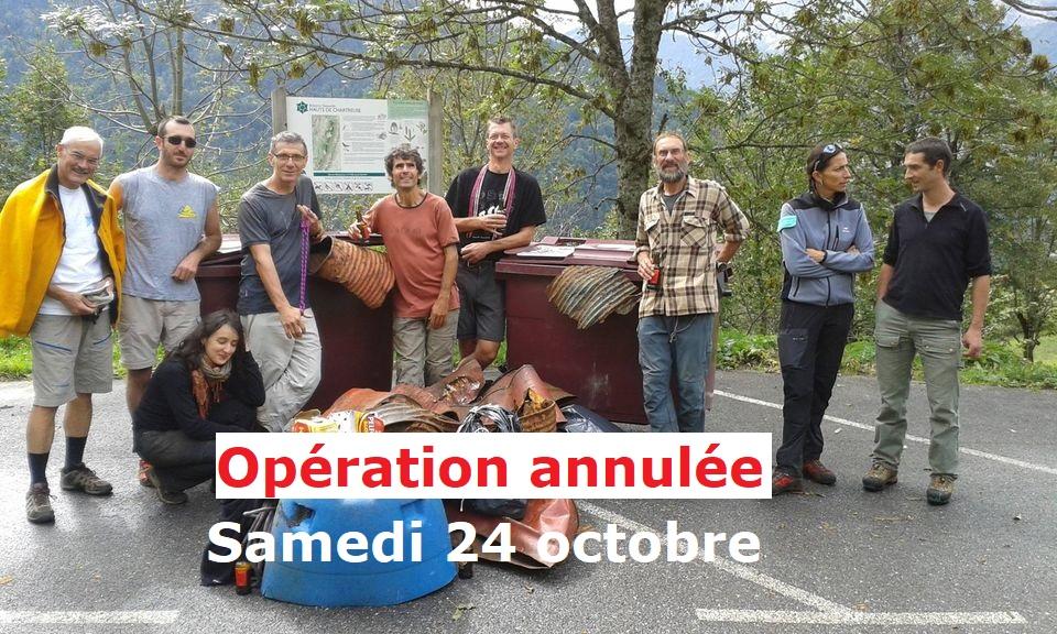 Annulation de l'opération Chartreuse Propre