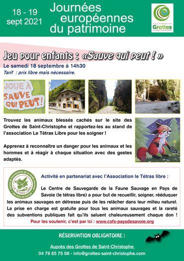 Journées Européennes du Patrimoine au Site Historique des Grottes